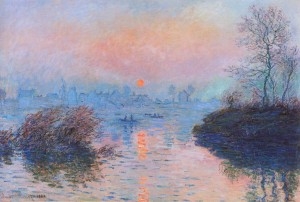 Sunset on the Seine, Winter Effect, 1880